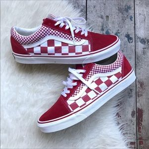 Vans red shoes sz 12 men's